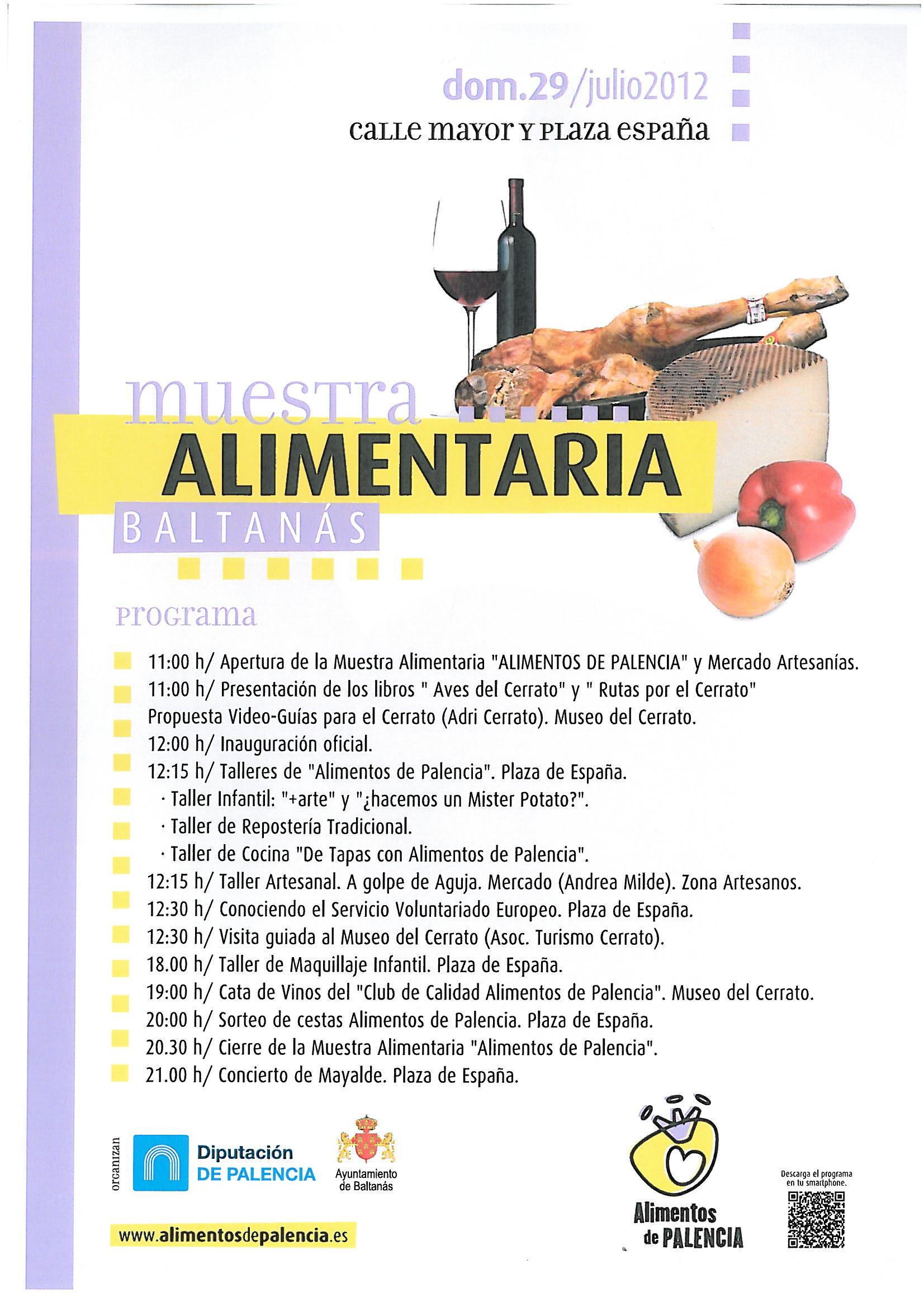 Feria del 29 de julio MUESTRA ALIMENTARIA – BUEN RATO EN EL CERRATO 2012