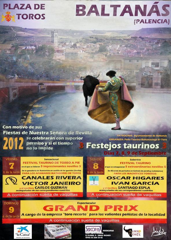 FESTEJOS TAURINOS EN LAS FIESTAS PATRONALES DE NUESTRA SEÑORA DE REVILLA 2.012