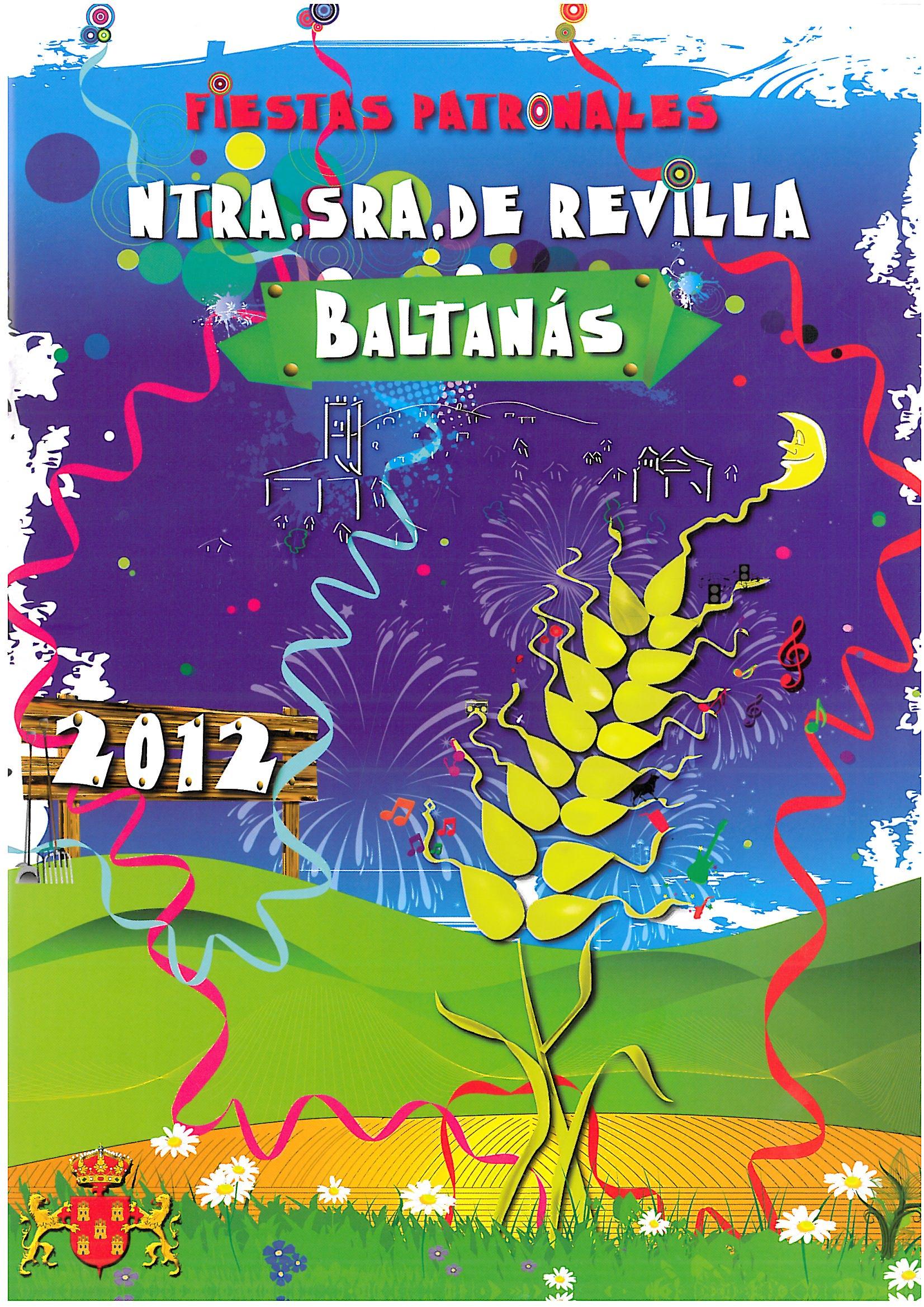 PROGRAMA FIESTAS PATRONALES NTRA. SRA. DE REVILLA 2.012