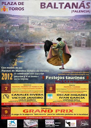 FESTEJOS TAURINOS FIESTAS NTRA. SRA. DE REVILLA 2.012