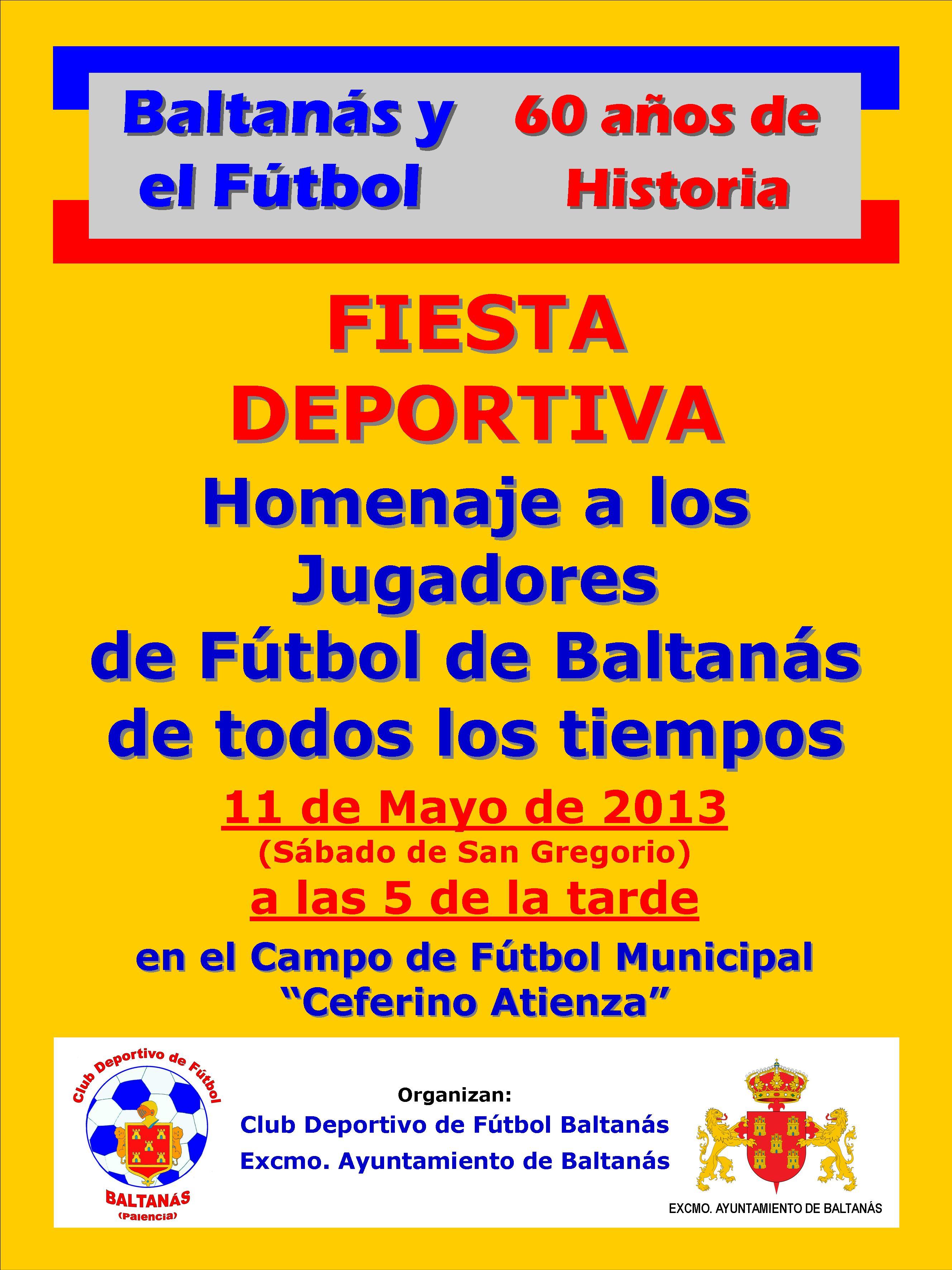 FIESTA DEPORTIVA 11 DE MAYO CLUB DEPORTIVO DE FUTBOL DE BALTANÁS