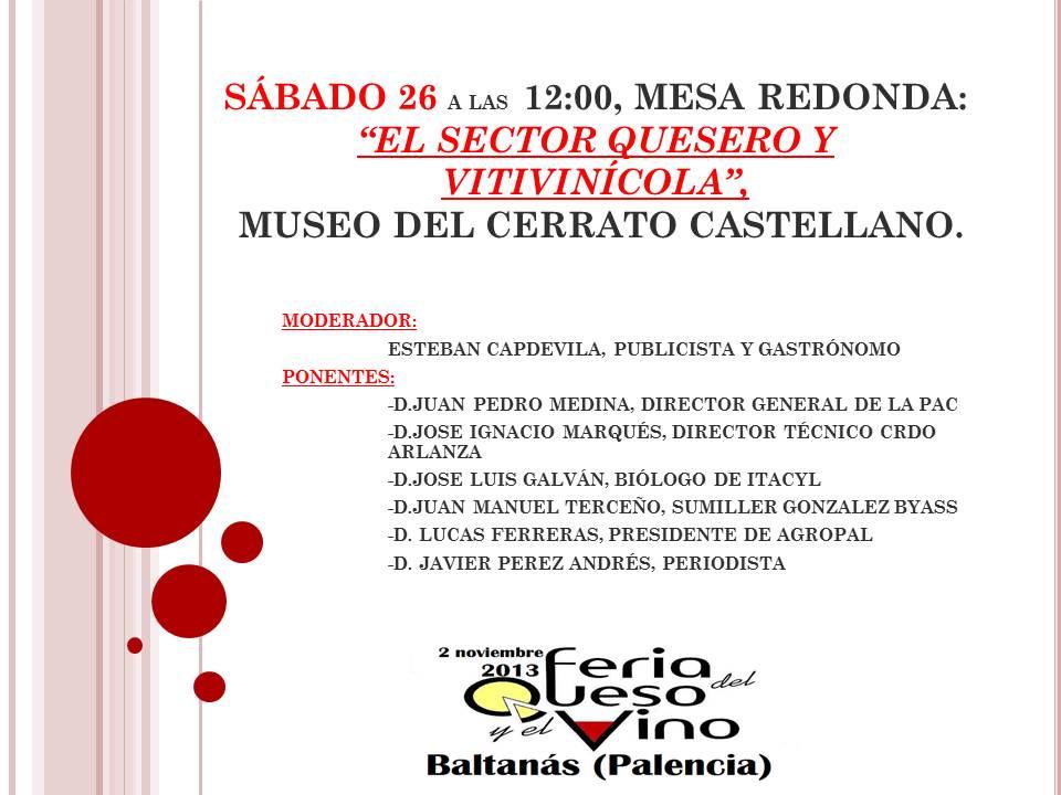 """Mesa Redonda """"El Sector Quesero y Vitivinicola"""" III Feria del Queso y del Vino"""