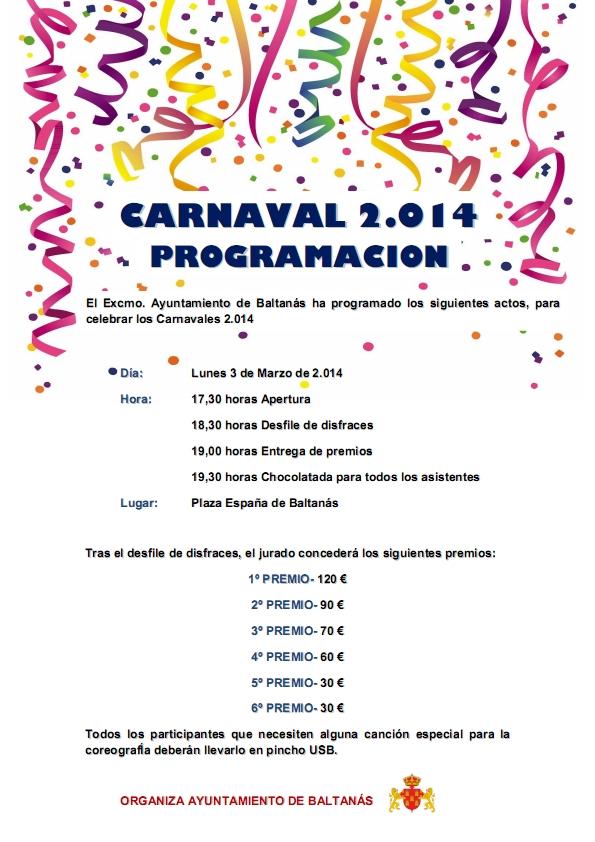 Programación Carnaval 2.014