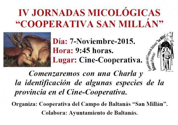 Cartel IV Jornadas Micológicas. Noviembre-2015.