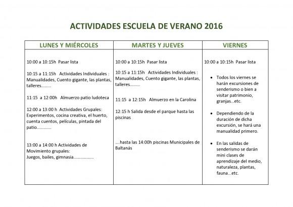 ACTIVIDADES ESCUELA DE VERANO 2016-page0001