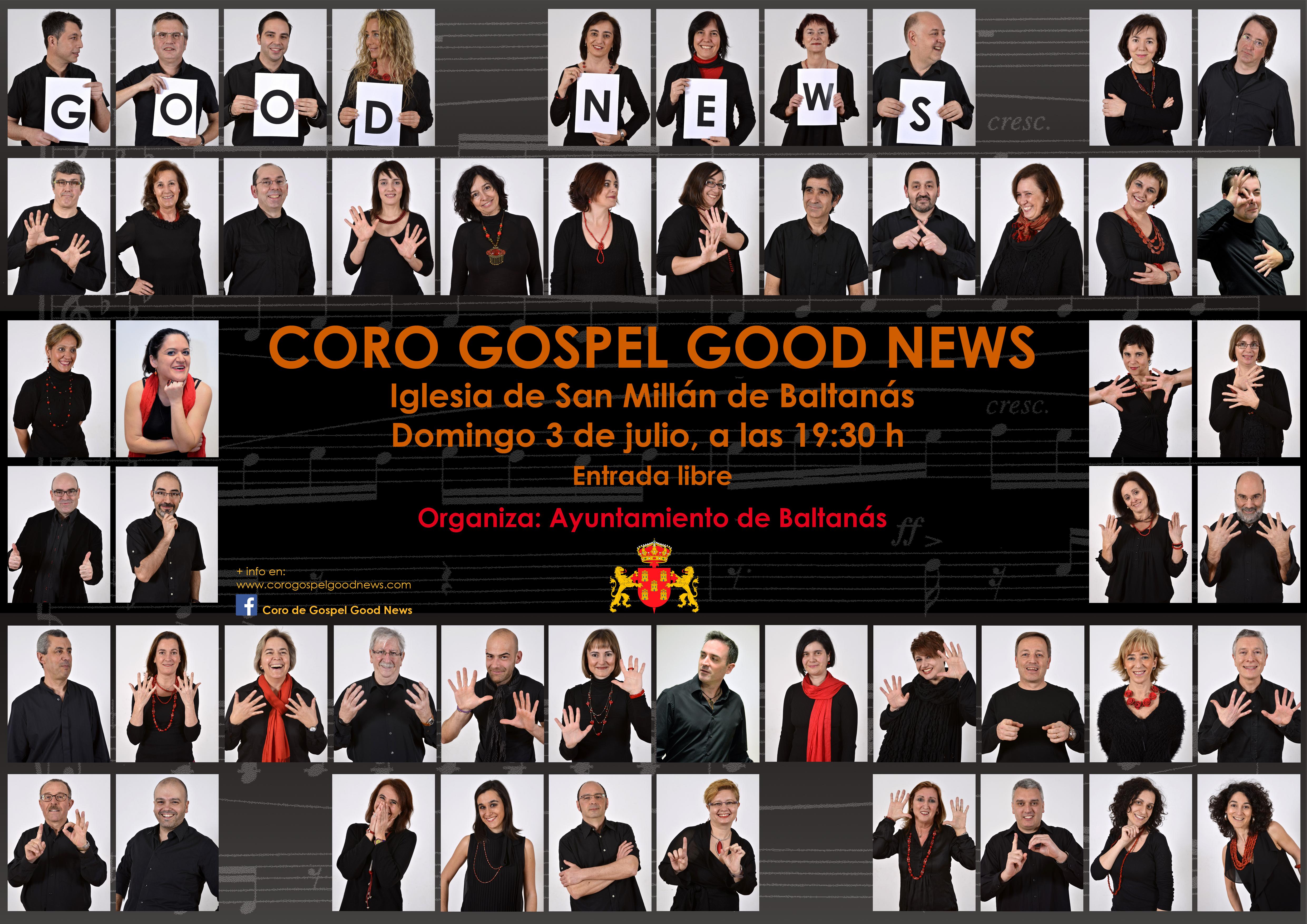 Coro Gospel Good News próximo 10 de Julio en Baltanás