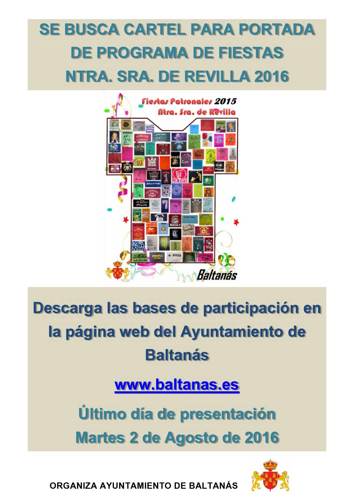 Concurso cartel Fiestas de Ntra. Sra. Virgen de Revilla 2016