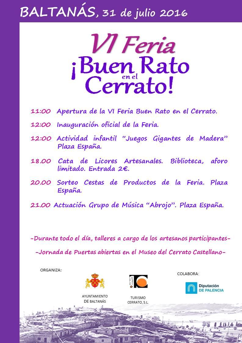 Programa VI Feria ¡Buen Rato en el Cerrato!