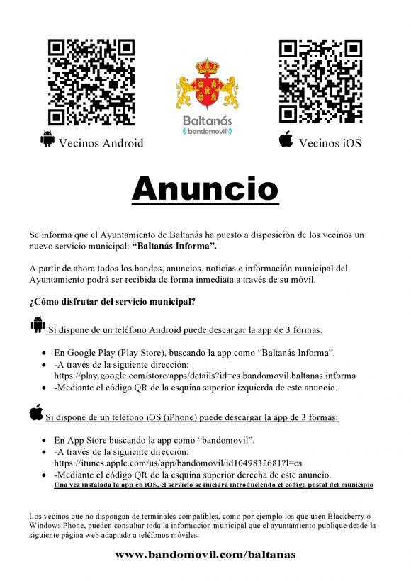 App Ayuntamiento de Baltanás