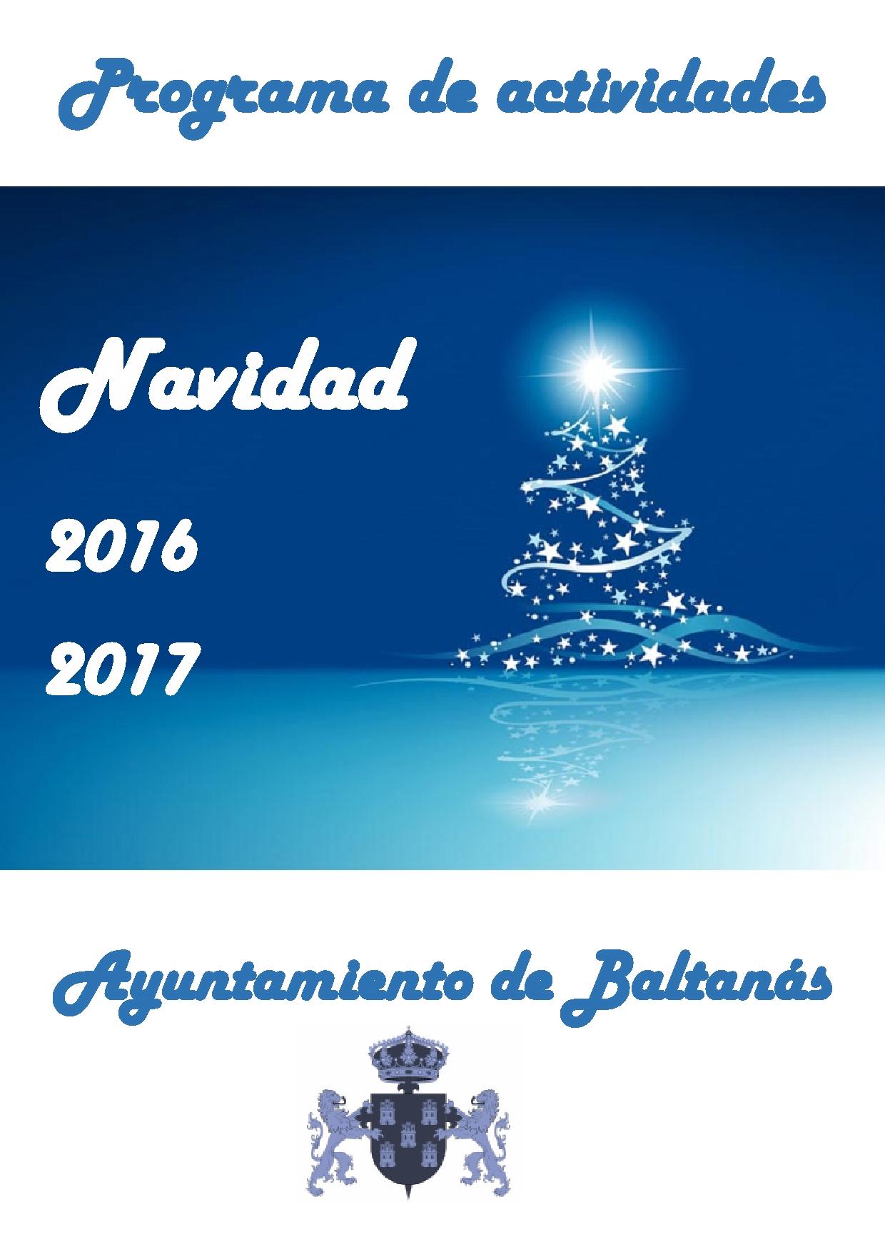 Programa de actividades Navidad 2016-2017