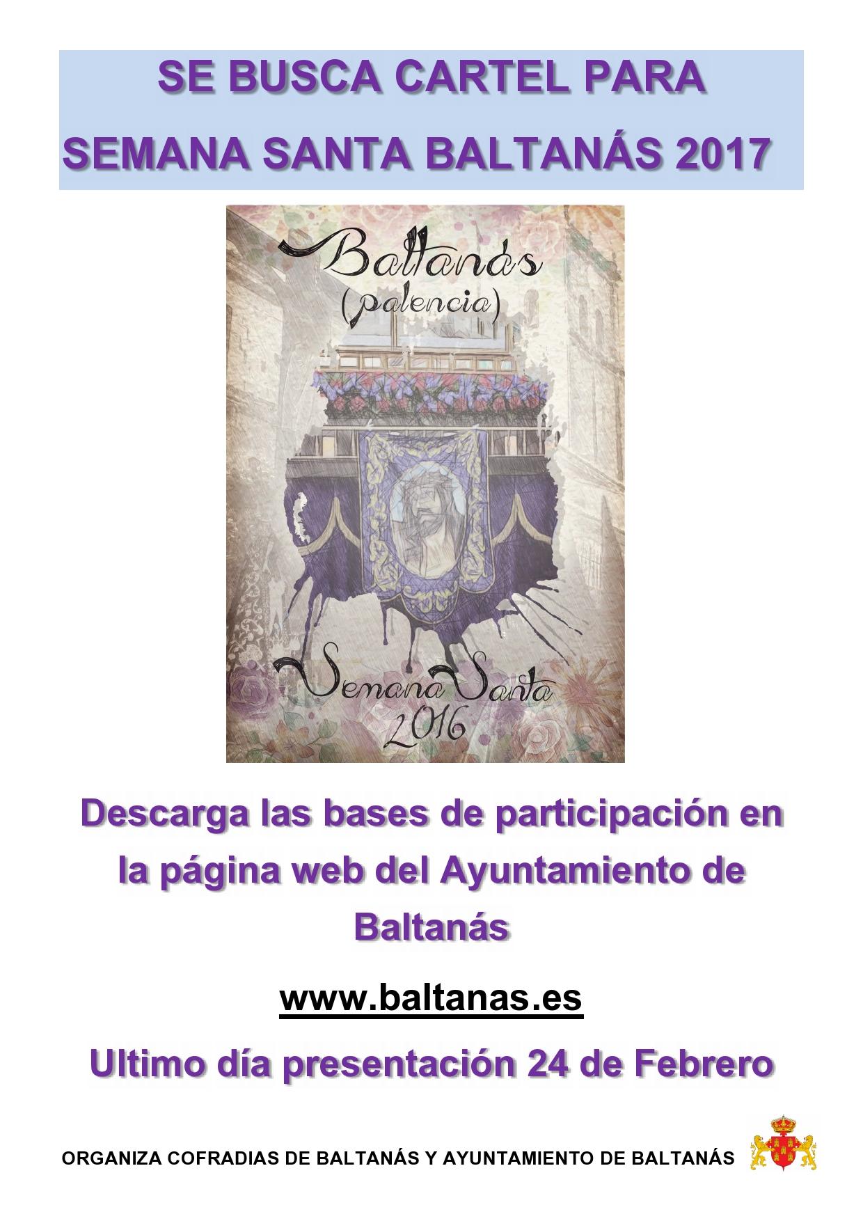 BASES DEL CONCURSO DE CARTEL PARA LA  SEMANA SANTA BALTANASIEGA 2017