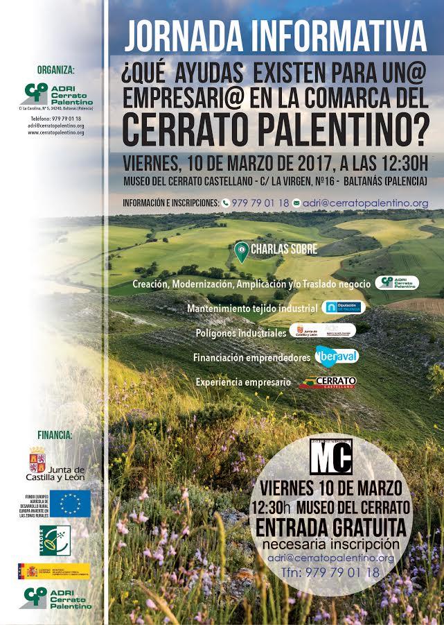 Jornada Informativa ¿Qué ayudas existen para un@ empresari@ en la comarca del Cerrato Palentino?