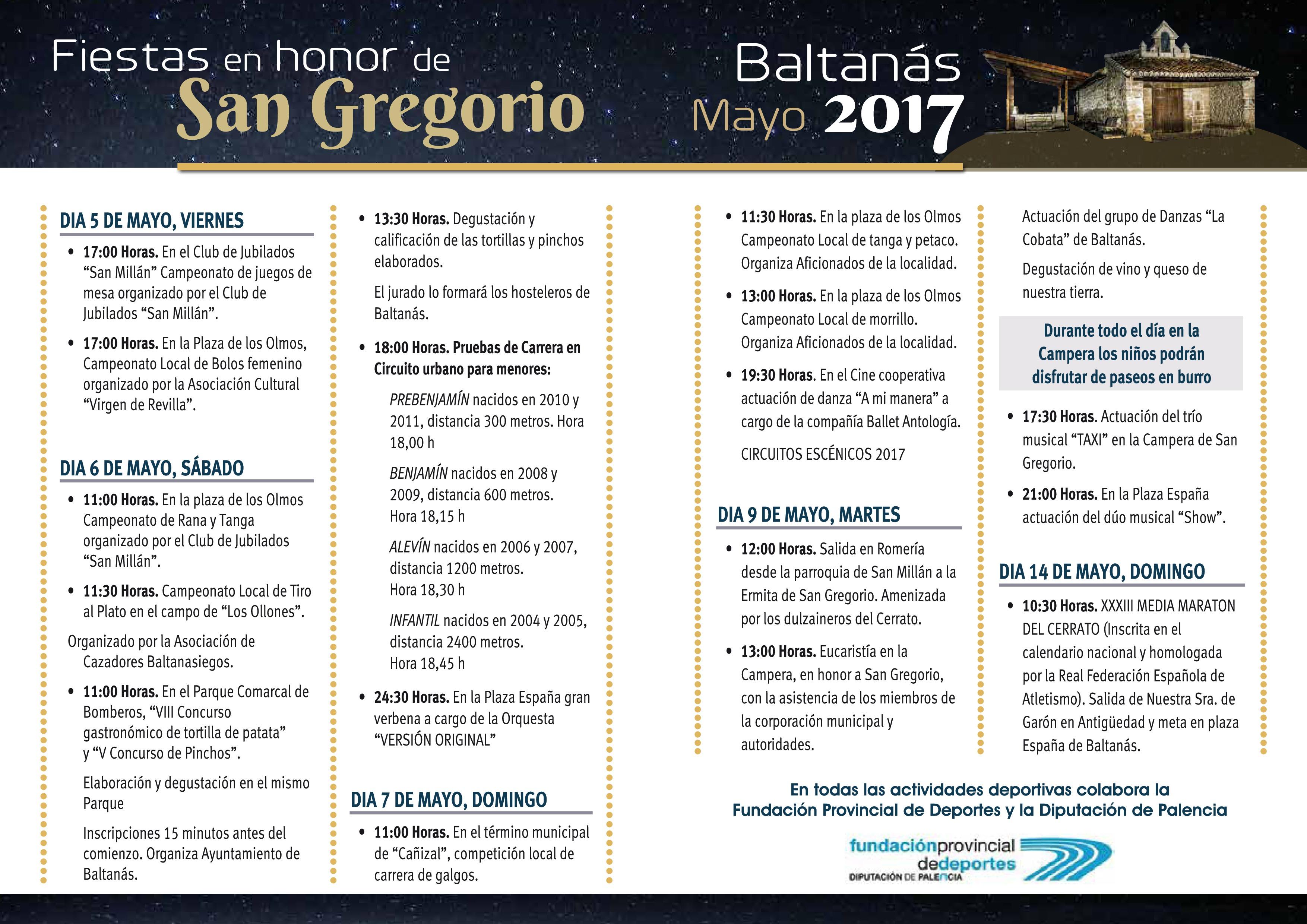 Programa San Gregorio 2017