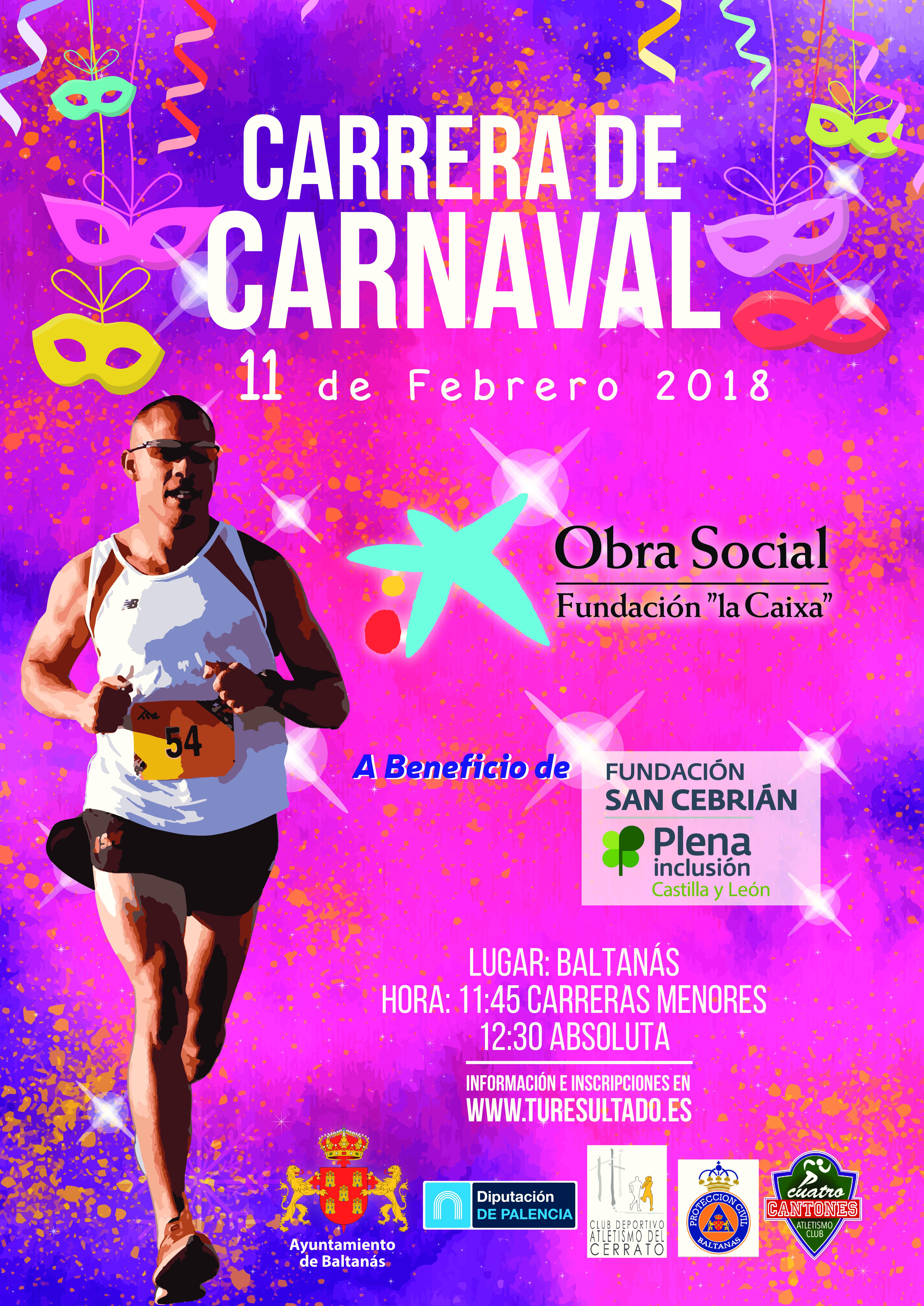 REGLAMENTO, INSCRIPCIONES Y CIRCUITO CARRERA DE CARNAVAL 11 de Febrero
