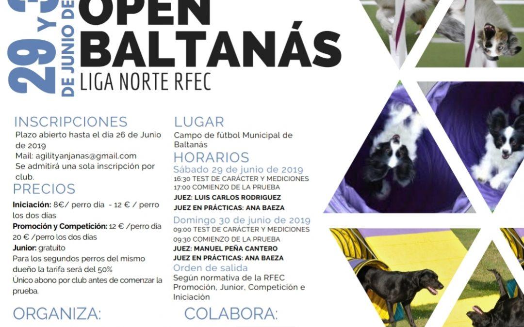 PRUEBA OPEN BALTANAS AGILITY LIGA NORTE RFEC 29 Y 30 DE JUNIO